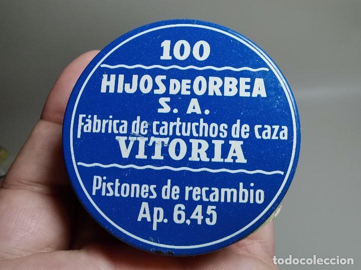 Militaria: caja de 100 pistones hijos de orbea precintada llena-pistones ap 6,45 - Foto 13 - 189759000
