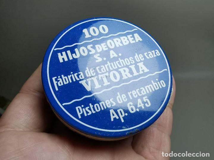 Militaria: caja de 100 pistones hijos de orbea precintada llena-pistones ap 6,45 - Foto 14 - 189759000