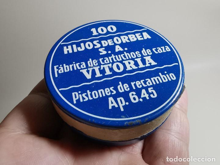 Militaria: caja de 100 pistones hijos de orbea precintada llena-pistones ap 6,45 - Foto 15 - 189759000