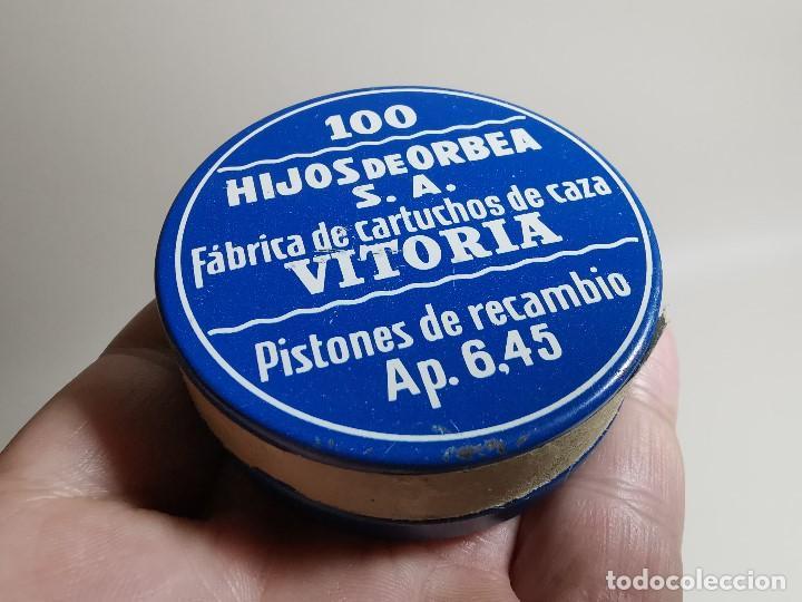 Militaria: caja de 100 pistones hijos de orbea precintada llena-pistones ap 6,45 - Foto 16 - 189759000