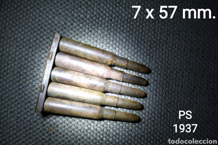 GCE. PEINE 7 X 57 MM. INERTE, ESPAÑA (PS 1937) (Militar - Cartuchería y Munición)