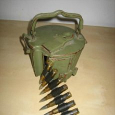 Militaria: TAMBOR CARGADOR DE CINTA MG34 /MG 42.ORIGINAL ASSAULT DRUM MG53.. Lote 191633203