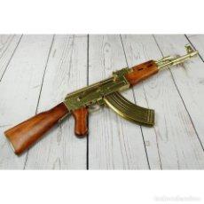 Militaria: FUSIL AK-47 DORADO RÉPLICA. Lote 191712730