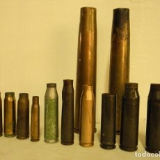 Militaria: GRAN LOTE DE VAINAS DE ARTILLERIA. Lote 193665377