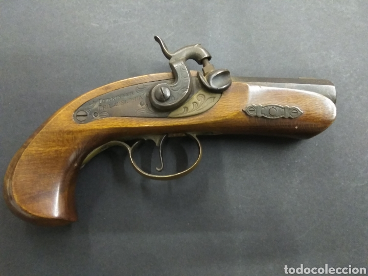 RESERVADA R***A ANTIGUA PISTOLA DE AVANCARGA MODELO DERRINGER PHILADELPHIABUEN ESTADO (Militar - Armas de Fuego de Avancarga y Complementos)