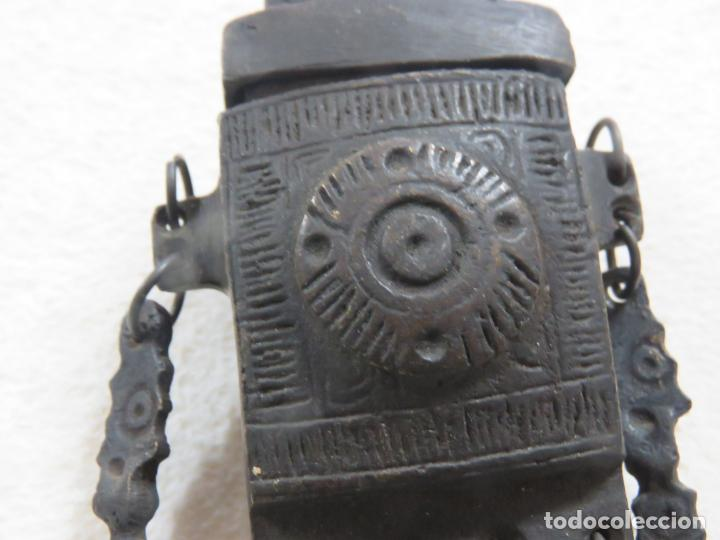 Militaria: PRECIOSA POLVORERA DEL IMPERIO OTOMANO DEL SIGLO XVIII EN BRONCE CINCELADO - Foto 10 - 194275070