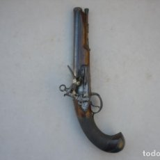 Militaria: LUJOSA PISTOLA DE CHISPA ESPAÑOLA FABRICADA EN 1828 POR FAMOSO ARCABUCERO. Lote 195263948