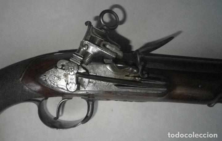 Militaria: LUJOSA PISTOLA DE CHISPA ESPAÑOLA FABRICADA EN 1828 POR FAMOSO ARCABUCERO - Foto 3 - 195263948