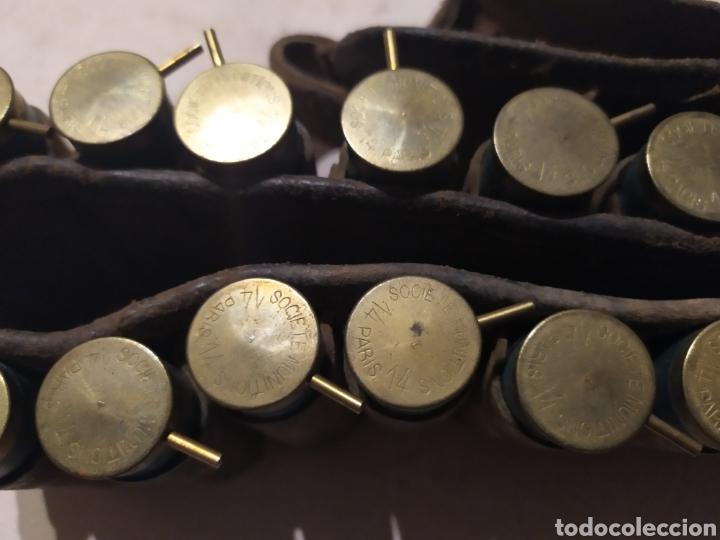 Militaria: Canana cartuchos Lefaucheaux sin usar, inertes - Foto 3 - 195789632