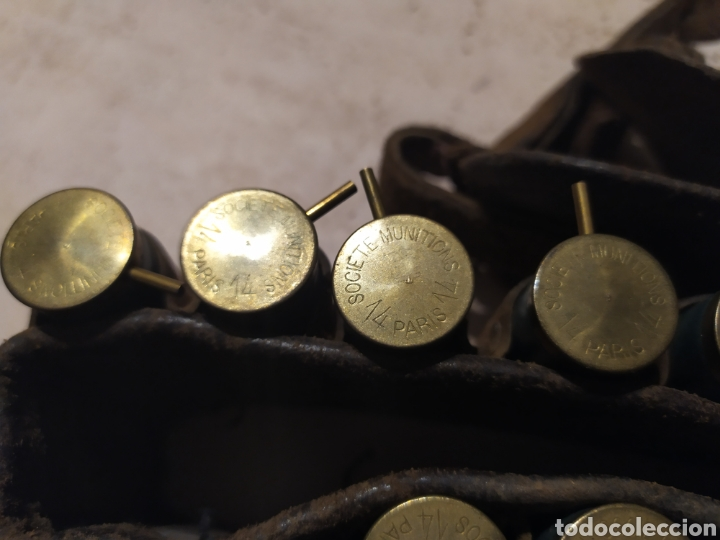 Militaria: Canana cartuchos Lefaucheaux sin usar, inertes - Foto 4 - 195789632