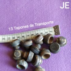 Militaria: GCE, LOTE DE 13 TAPONES TRANSPORTE DE ARTILLERÍA INERTE, GUERRA CIVIL ESPAÑOLA. Lote 195910731