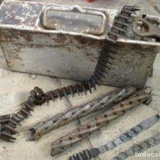 Militaria: CAJA MUNICION ALUMINIO MG 34, MG42 ALEMANA, SEGUNDA GUERRA MUNDIAL, INERTE. Lote 197465175