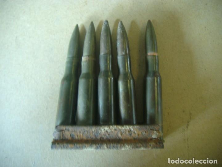 PEINE CARGADOR 5 CARTUCHOS NAGANT 7.62 X 54 R 1938 GUERRA CIVIL (Militar - Cartuchería y Munición)