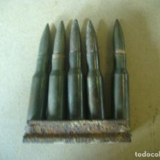 Militaria: PEINE CARGADOR 5 CARTUCHOS NAGANT 7.62 X 54 R 1938 GUERRA CIVIL. Lote 197506883