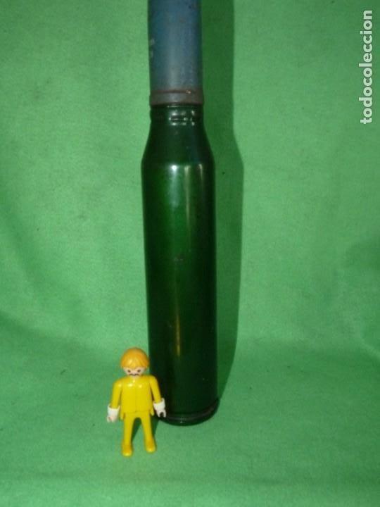 Militaria: RARO PROYECTIL COMPLETO 35 mm OERLIKON BMAR & Co 1977 OBUS INERTE 38,5 cms de alto - Foto 2 - 197825272