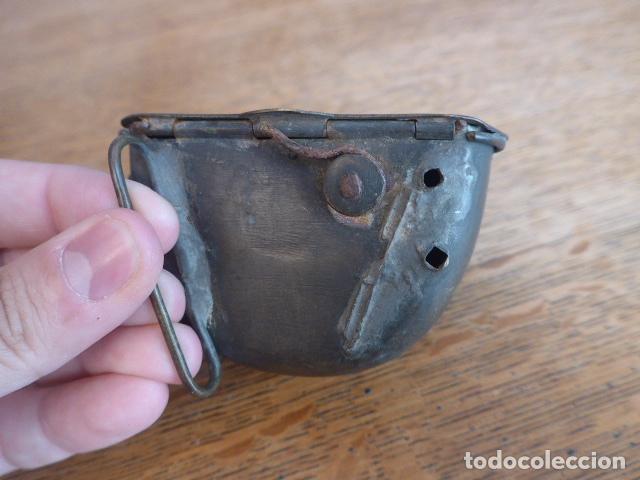 Militaria: Antigua y rara cartuchera para municion de la guerra independencia o anterior, original. - Foto 14 - 198640105