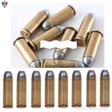 Militaria: BALAS INERTES COLT 45 USA AÑO 1880 ** LOTE 12 CARTUCHOS. Lote 222748207