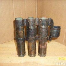 Militaria: CINTA DE CARTUCHOS-VAINAS RUSOS-CALIBRE 22 MM- INERTES. Lote 199657398