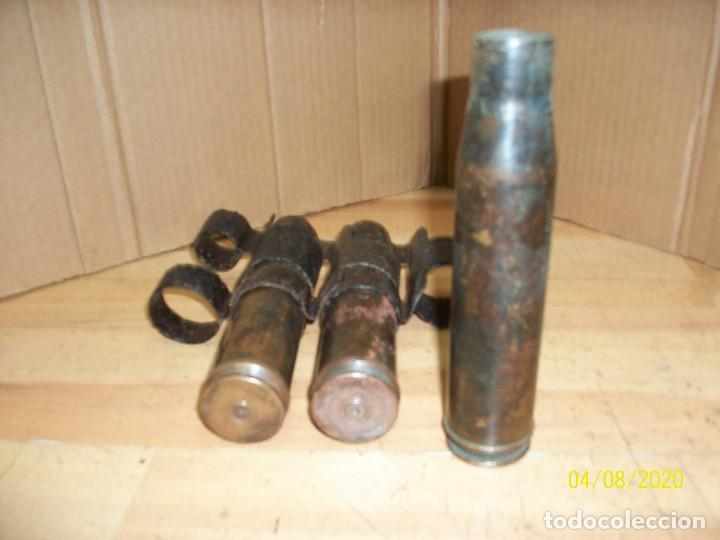 Militaria: CINTA DE CARTUCHOS-VAINAS RUSOS-CALIBRE 22 MM- INERTES - Foto 3 - 199657398