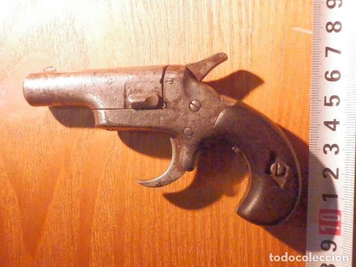 Militaria: Pistola - Colt 1872 - Gun Derringer - Nº 3 - Calibre 41 anular -Un tiro, One Shot - Gatillo muy raro - Foto 8 - 98626659
