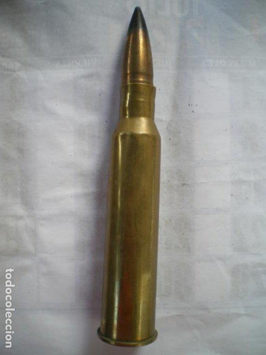 DISPARO CARTUCHO ANTICARRO FRANCES 25MM , INERTE (Militar - Cartuchería y Munición)