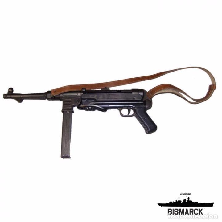 Militaria: ALEMANIA SUBFUSIL MP40 REPLICA DENIX Segunda Guerra Mundial - Foto 2 - 249416935