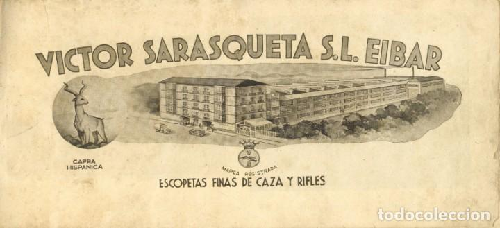 Militaria: Escopeta Victor Sarasqueta Mod. ParaTodoS 1924 Marca Registrada con Seguro Guardamonte - Foto 2 - 204603383