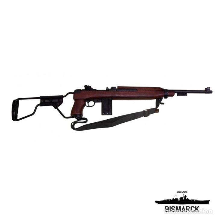 Militaria: USA CARABINA M1A1 1944 MODELO PARACAIDISTA REPLICA DENIX Segunda Guerra Mundial - Foto 2 - 96719411