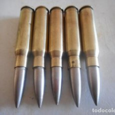 Militaria: 5 VAINAS 308 DIFERENTES MARCAS INERTES. Lote 205040321