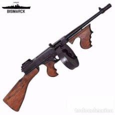 Militaria: USA SUBFUSIL M1928A1 THOMPSON TAMBOR GANSTERS REPLICA DENIX SEGUNDA GUERRA MUNDIAL. Lote 223368231