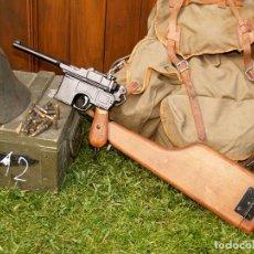 Militaria: PISTOLA MAUSER C96 CON FUNDA CULATÍN. Lote 206914358
