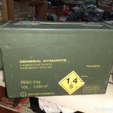 Militaria: CAJA METÁLICA HERMÉTICA PARA MUNICIÓN 200 CARTUCHOS 7,62 MM.GENERAL DYMAMICS.. Lote 207874221