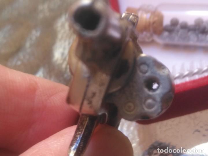 Militaria: Mini revolver de 5,5 cm , monotiro. Año 1972 con bolitas de 2mm y fulminantes - Foto 3 - 210063510