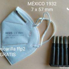 Militaria: GCE PEINE 7 X 57 MM. INERTE MEXICO 1932- (GRATIS 1 MASCARILLA FFP2). Lote 195686553