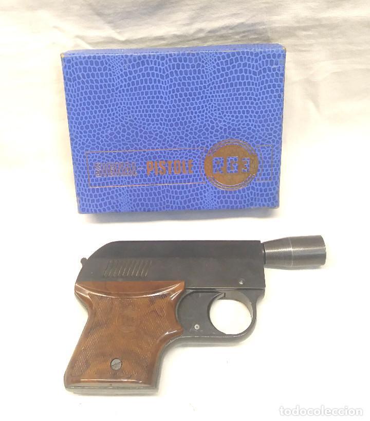 Militaria: Pistola Detonadora Alarma Rohm RG3 Alemania años 50, funciona buen estado, con caja - Foto 2 - 211504384