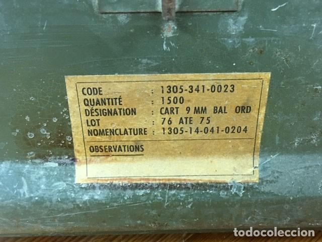 Militaria: Caja para munición francesa - Foto 3 - 212599905