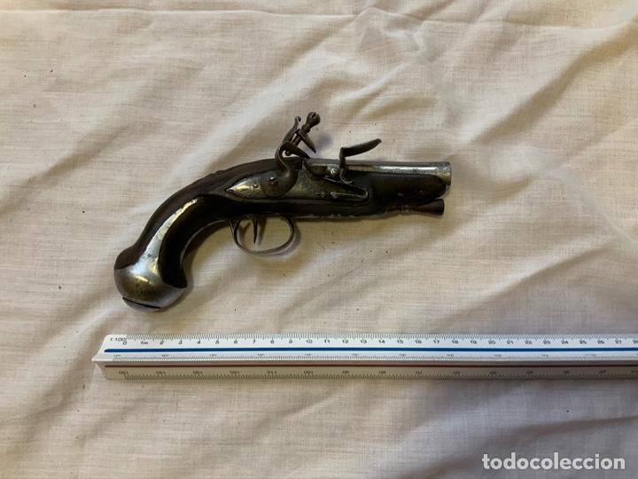 PRECIOSA PISTOLA DE PEDERNAL DEL S.XVIII O XIX DE LUJO . INUTILIZADA POR EL TIEMPO (Militar - Armas de Fuego Inutilizadas)