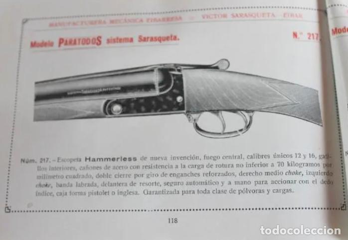 Militaria: Escopeta Victor Sarasqueta Mod. ParaTodoS 1924 Marca Registrada con Seguro Guardamonte - Foto 3 - 204603383