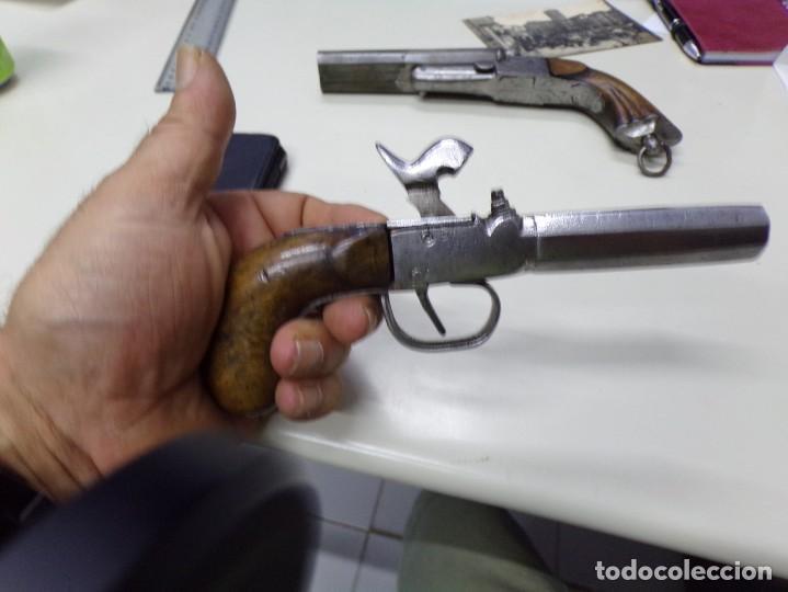 Militaria: pequeña pistola de piston o de bolsillo avantcarga - Foto 3 - 216747505