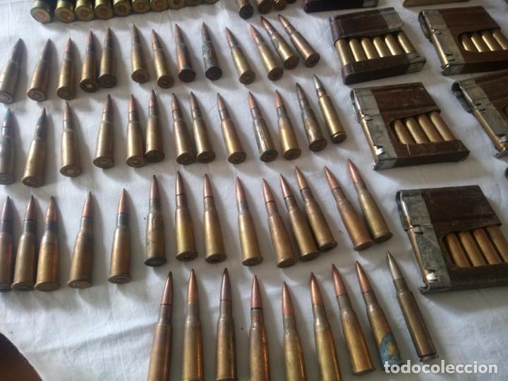 Militaria: Lote 5,600 kg de munición variada de 2ª guerra mundial,caja de caudales de hierro .1940,inerte - Foto 3 - 216834983