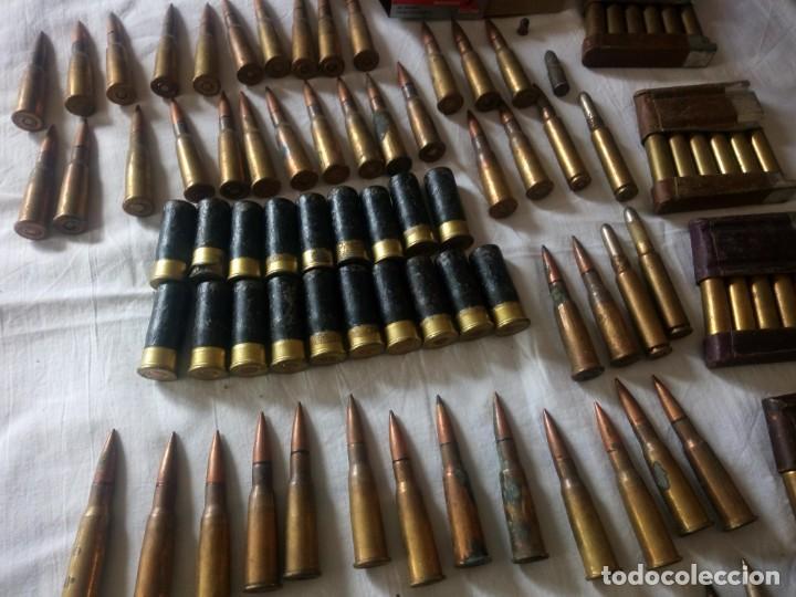 Militaria: Lote 5,600 kg de munición variada de 2ª guerra mundial,caja de caudales de hierro .1940,inerte - Foto 4 - 216834983