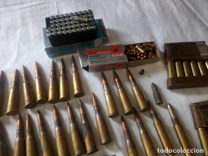 Militaria: Lote 5,600 kg de munición variada de 2ª guerra mundial,caja de caudales de hierro .1940,inerte - Foto 5 - 216834983