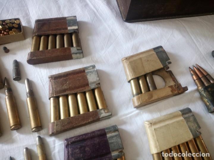 Militaria: Lote 5,600 kg de munición variada de 2ª guerra mundial,caja de caudales de hierro .1940,inerte - Foto 6 - 216834983