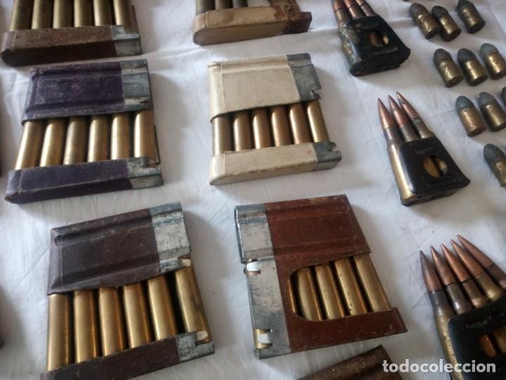 Militaria: Lote 5,600 kg de munición variada de 2ª guerra mundial,caja de caudales de hierro .1940,inerte - Foto 7 - 216834983