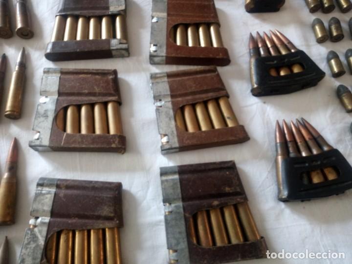 Militaria: Lote 5,600 kg de munición variada de 2ª guerra mundial,caja de caudales de hierro .1940,inerte - Foto 8 - 216834983