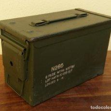 Militaria: CAJA MILITAR DE MUNICIÓN (VACÍA) PERFECTO ESTADO MIDE 30 X 15 X 18 CM.. Lote 217516371