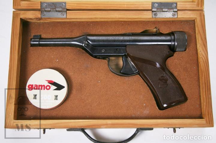 Militaria: Pistola de Aire Comprimido Hy Score, Target Model - Fabricada en USA, Mediados S. XX - Foto 3 - 218486321