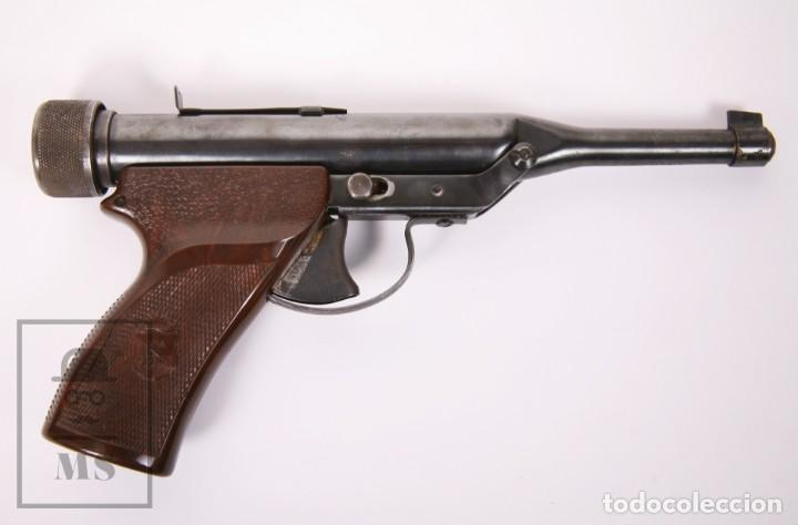 Militaria: Pistola de Aire Comprimido Hy Score, Target Model - Fabricada en USA, Mediados S. XX - Foto 10 - 218486321