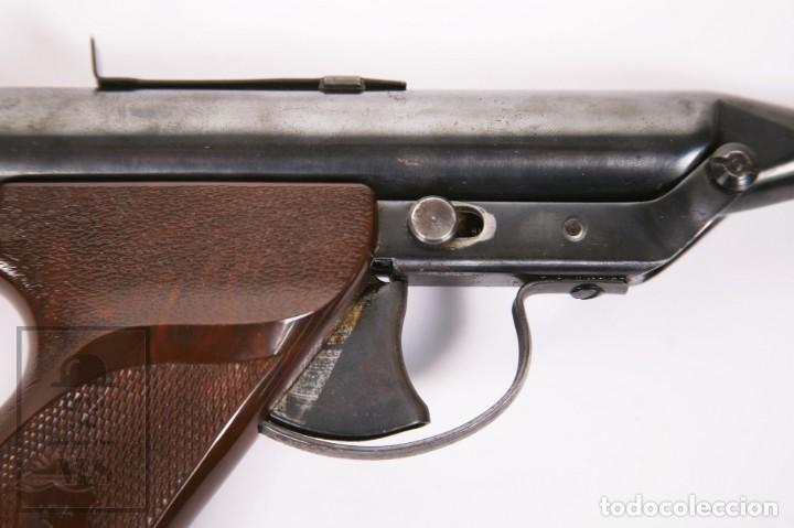 Militaria: Pistola de Aire Comprimido Hy Score, Target Model - Fabricada en USA, Mediados S. XX - Foto 11 - 218486321