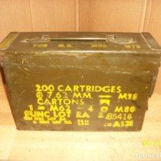 Militaria: CAJA DE MUNICIONES-VACIA. Lote 218591938